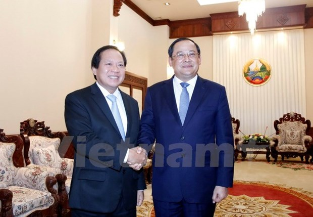 Vietnam-Laos information-communications cooperation applauded hinh anh 1