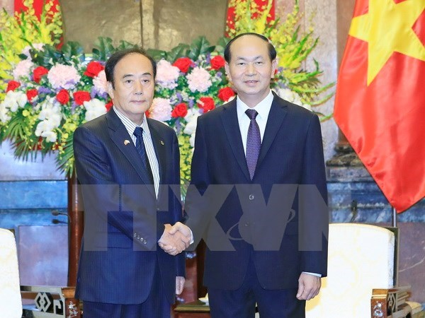 President reiterates Vietnam's policy of boosting ties with Japan hinh anh 1