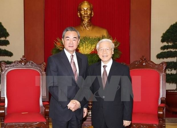 Party chief: Vietnam pays great attention to relations with China hinh anh 1