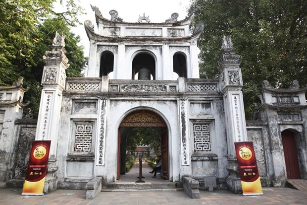 Thu Vong Nguyet exhibition opens at Temple of Literature hinh anh 1