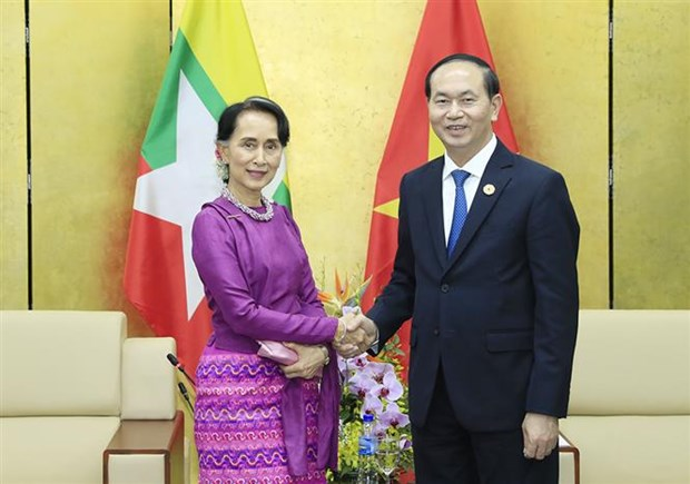 APEC 2017: President welcomes Myanmar State Counsellor hinh anh 1