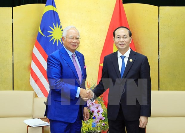 APEC 2017: President Tran Dai Quang meets Malaysian PM hinh anh 1