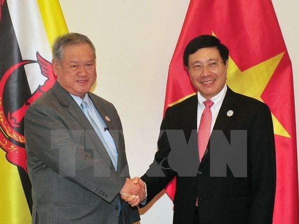 Deputy PM Pham Binh Minh meets Brunei Minister hinh anh 1
