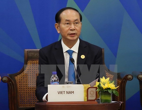 APEC 2017: Vietnamese President attends APEC-ABAC dialogue hinh anh 1