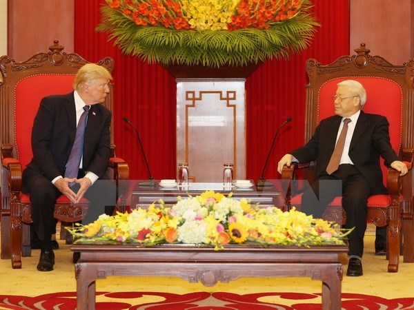 Party chief welcomes US President hinh anh 1