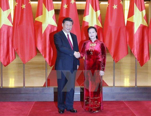 NA Chairwoman meets Chinese Party chief Xi Jinping hinh anh 1