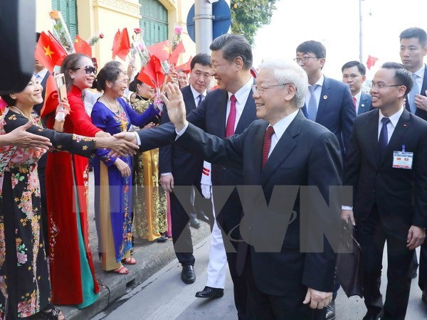 Party chiefs Nguyen Phu Trong, Xi Jinping hold talks hinh anh 3
