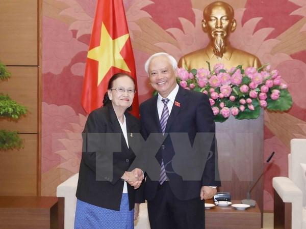 NA Vice Chairman receives Cambodian Senate committee head hinh anh 1