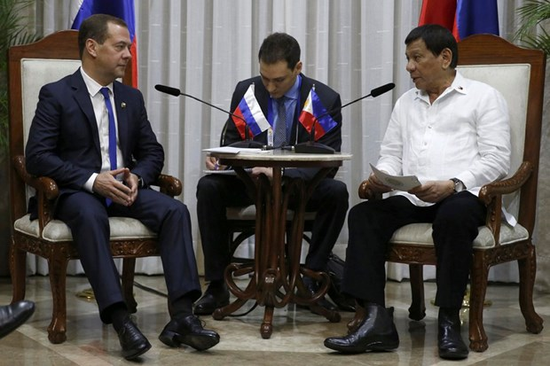 Philippines, Russia vow to boost trade, military partnership hinh anh 1