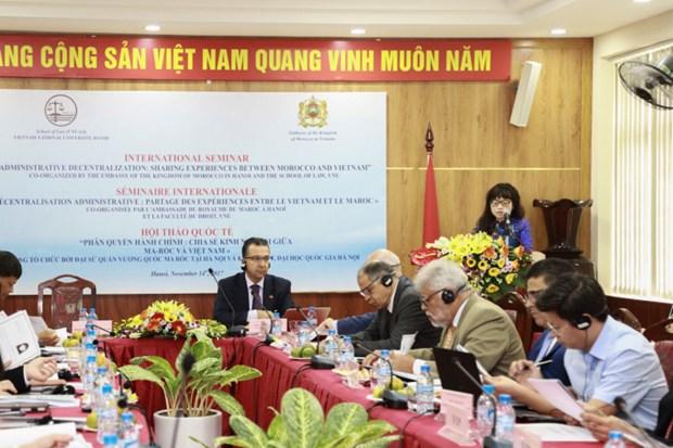 Vietnam, Morocco talk administrative decentralisation hinh anh 1