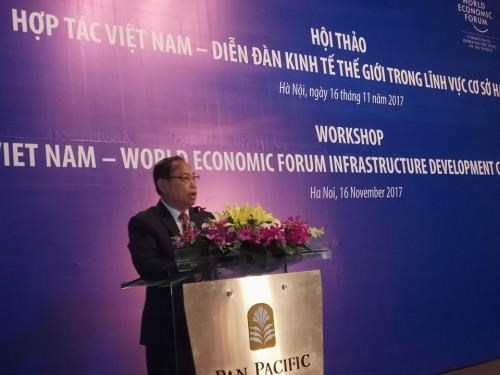 Vietnam looks to boost cooperation with WEF in infrastructure hinh anh 1