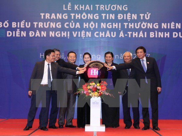 Website, logo of 26th Asia-Pacific Parliamentary Forum launched hinh anh 1