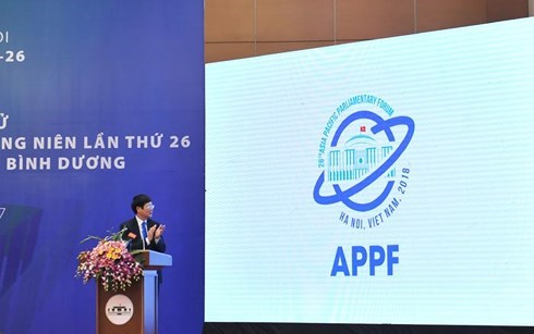 Website, logo of 26th Asia-Pacific Parliamentary Forum launched hinh anh 2