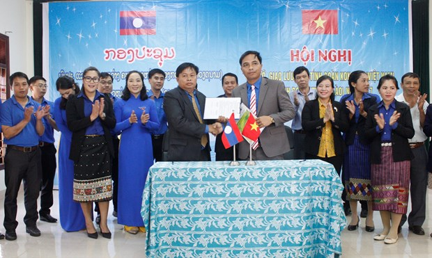 Kon Tum, Attapeu provinces enhance youth cooperation hinh anh 1