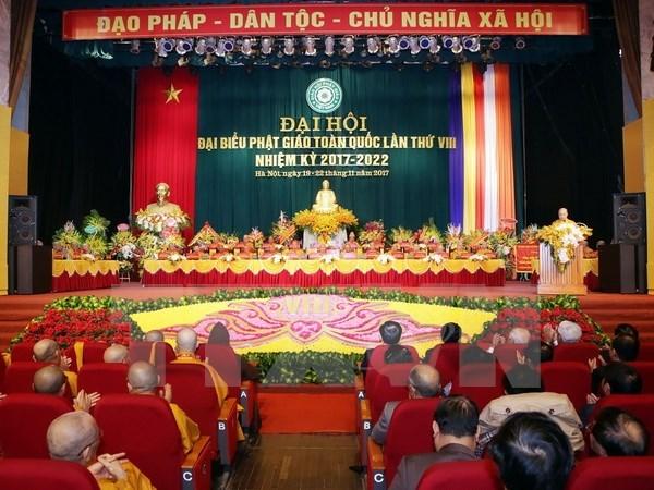 Vietnam Buddhist Sangha eighth congress opens in Hanoi hinh anh 1