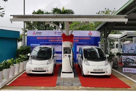 Vietnam's first station for e-vehicles opens in Da Nang hinh anh 1