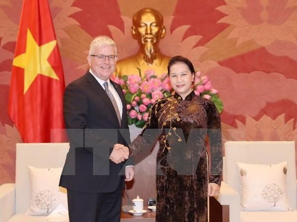 NA Chairwoman receives Australian Ambassador hinh anh 1
