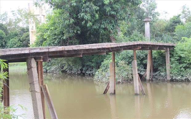 Quang Tri commuters risk lives on unsafe bridges hinh anh 1