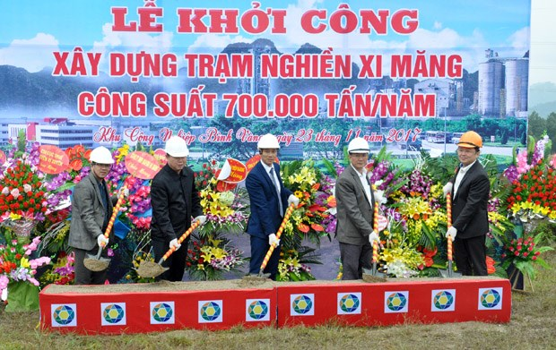 Construction on cement grinding station begins in Ha Giang hinh anh 1