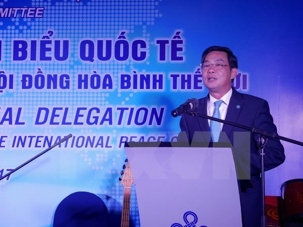 Hanoi authorities meets World Peace Council delegation hinh anh 1