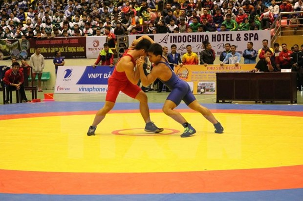 Southeast Asia wrestling championship opens in Bac Ninh hinh anh 1