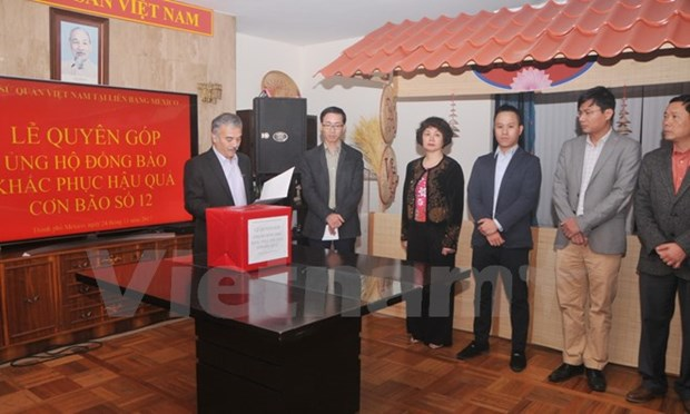 Vietnamese expatriates raise funds to support typhoon victims hinh anh 1