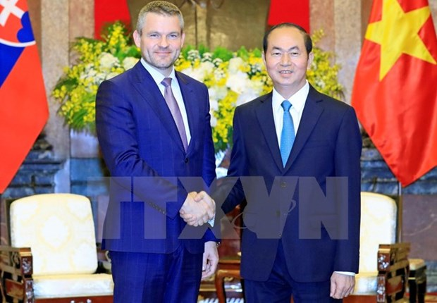 President welcomes Slovak Deputy PM hinh anh 1