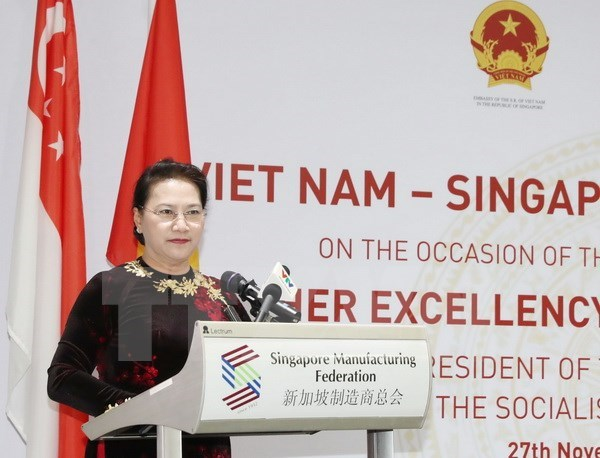 Vietnam encourages Singaporean investments: NA Chairwoman hinh anh 1