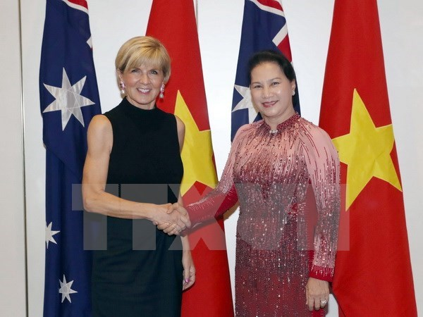 NA Chairwoman meets Australian Foreign Minister hinh anh 1