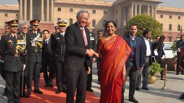 Singapore, India sign naval pact hinh anh 1