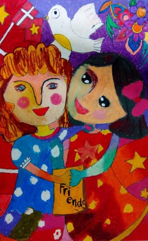 Danish Embassy in Vietnam awards winners of children painting contest hinh anh 3
