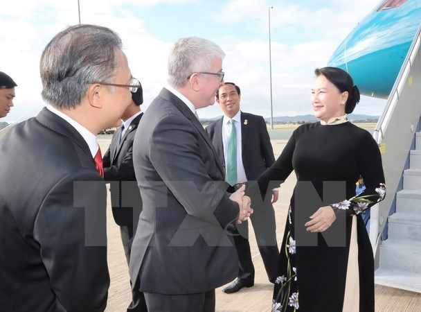 Chairwoman's Singapore, Australia trip concludes NA's eventful year hinh anh 2
