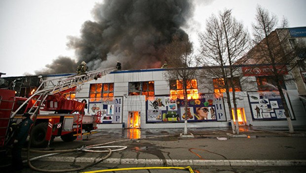 Fire breaks out in mall of Vietnamese in Orenburg, Russia hinh anh 1