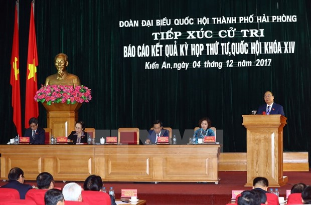 Prime Minister meets Hai Phong voters hinh anh 1