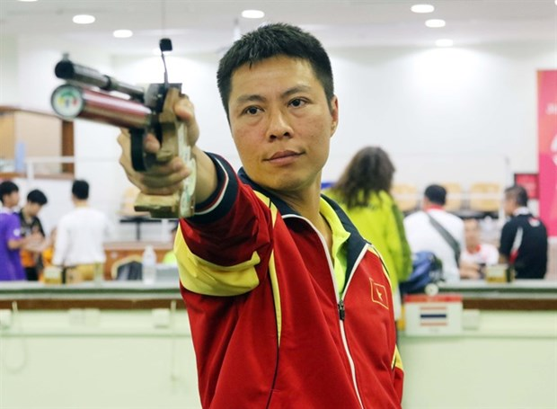 Vietnam earns bronze at Asian air pistol champs hinh anh 1