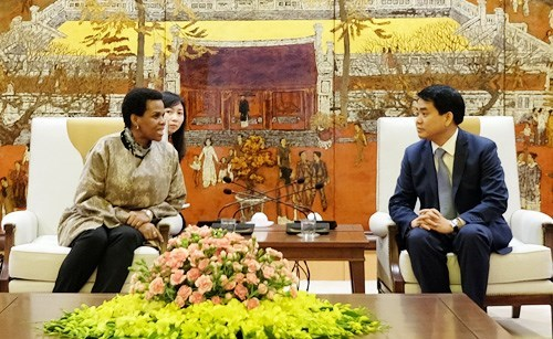 Hanoi leader hails South African ambassador's contribution hinh anh 1