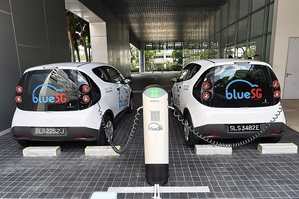 Singapore launches electric car-sharing programme hinh anh 1