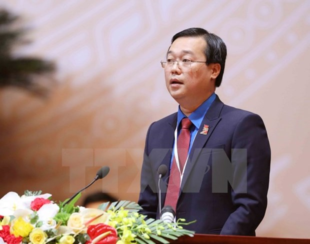 Le Quoc Phong re-elected 11th HCYU Central Committee first secretary hinh anh 1