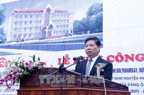 Work starts on Vietnamese-funded school in Laos hinh anh 1