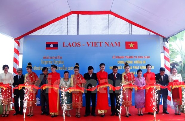 Vietnam helps Laos build printing factory hinh anh 1