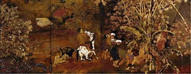 Vietnamese paintings displayed at China Art Museum hinh anh 1
