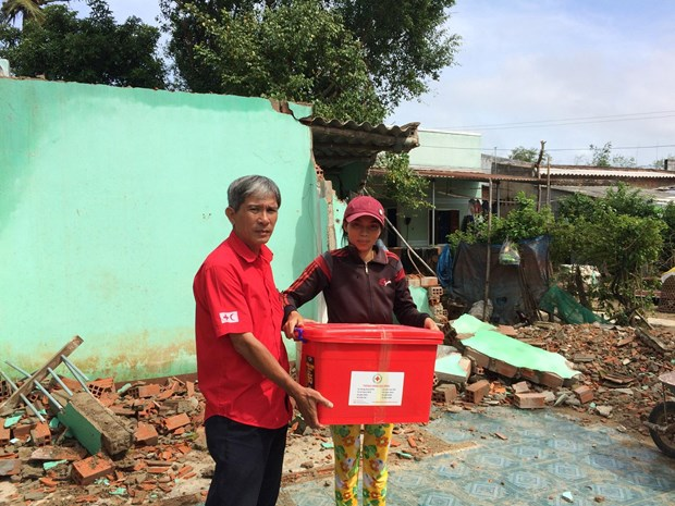 EU provides financial aid for storm-hit residents hinh anh 1