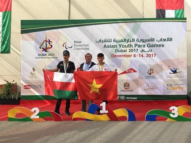 Vietnamese para athletes win golds at Asian Games hinh anh 1