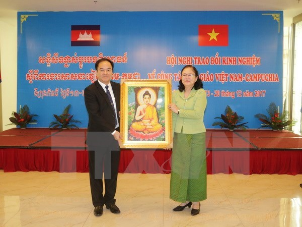 Can Tho authorities work with Cambodian religious official hinh anh 1