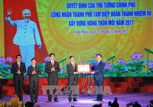 Ninh Binh's Tam Diep city recognised as new-style rural area hinh anh 1