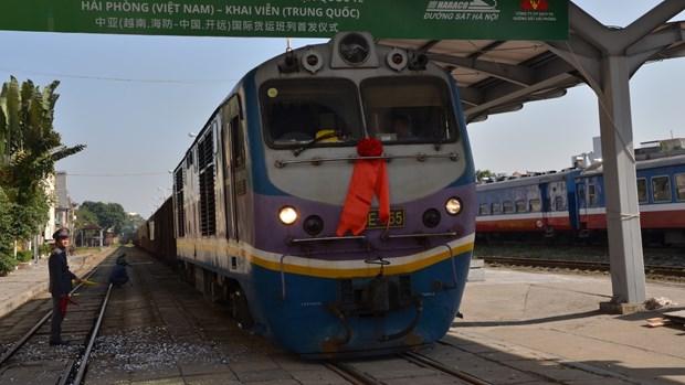 Freight rail service linking Hai Phong with China's Kaiyuan launched hinh anh 1