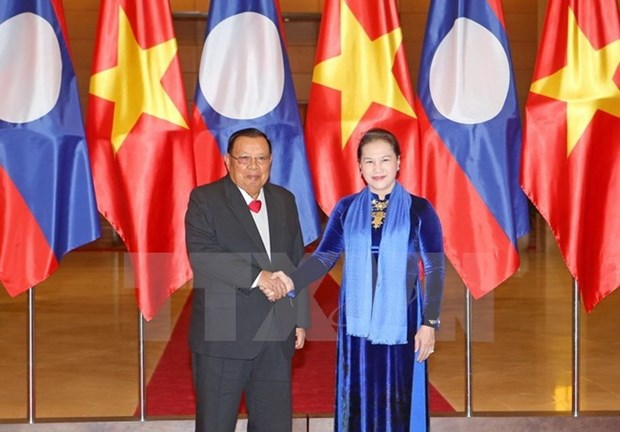 NA Chairwoman lauds visit of Lao Party and State leader hinh anh 1