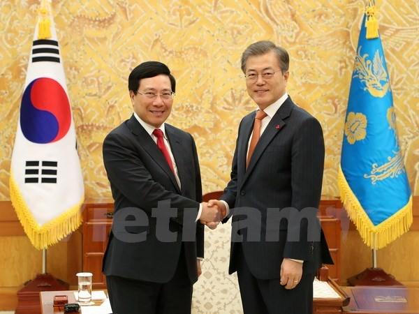 Deputy PM Minh meets with RoK leaders, businesses hinh anh 1