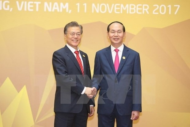Vietnamese, RoK Presidents exchanged congratulations on ties anniversary hinh anh 1