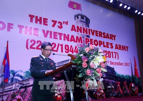 Founding anniversary of Vietnamese army observed in Laos hinh anh 1